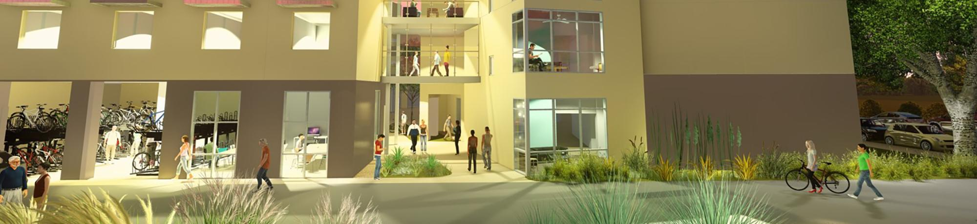 rendering of uc davis emerson hall renovation